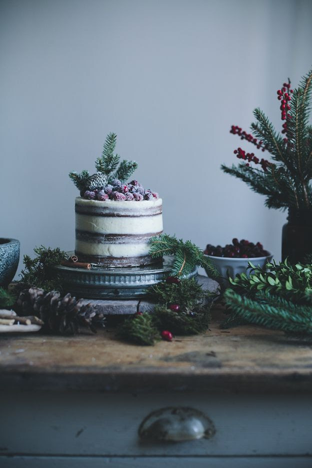 Soft Gingerbread Cake with Cream Cheese Frosting & Sugared Cranberries   Call Me Cupcake!