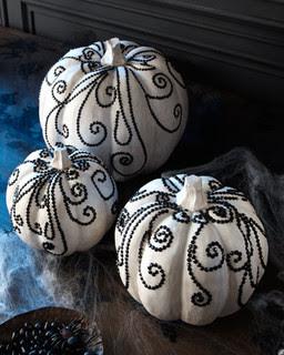 White Halloween Pumpkins