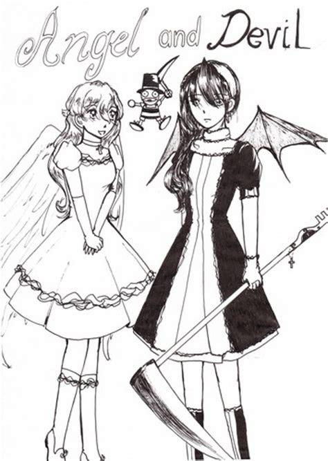 drawing images angel  devil hd wallpaper  background