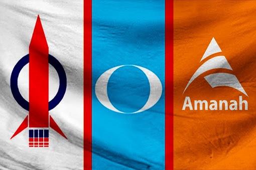 Pakatan Harapan - DAP, PKR, Amanah Symbols