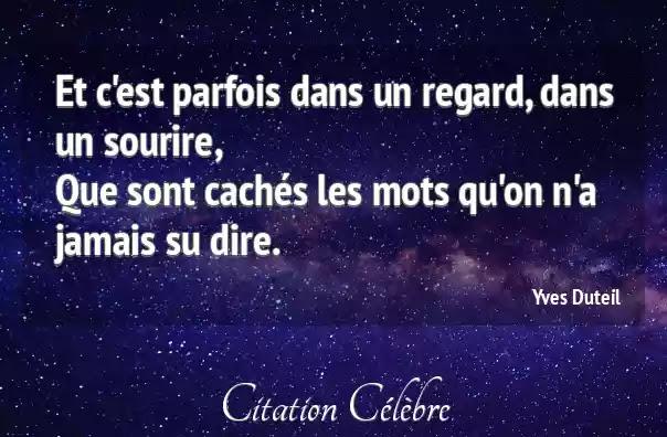 Citation Un Regard Qui En Dit Long