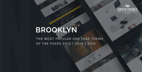 Brooklyn Creative One – Page Wordpress multipurpose theme