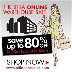 stila cosmetics warehouse sale - up to 80% off!