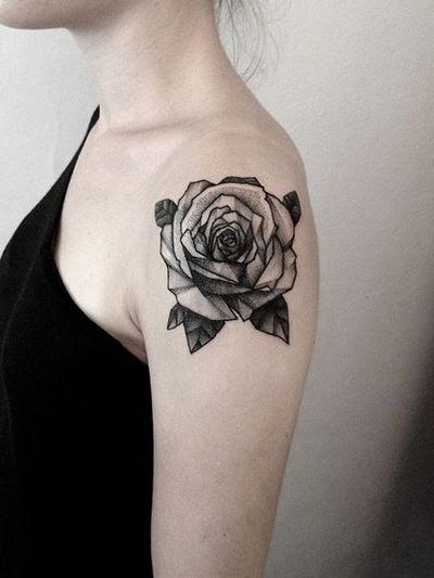 Black Rose Shoulder Ink Best Tattoo Design Ideas