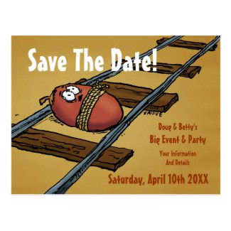 Save the Date Funny Announcement Postcards