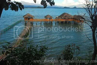 silangang nayon huts on stilts