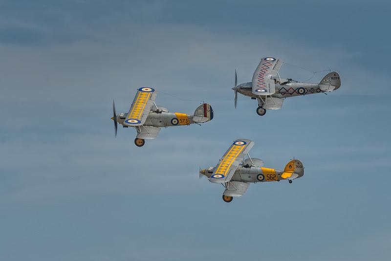 Hawker biplane formation