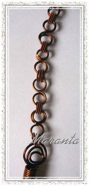 wire wrapping naszyjnik