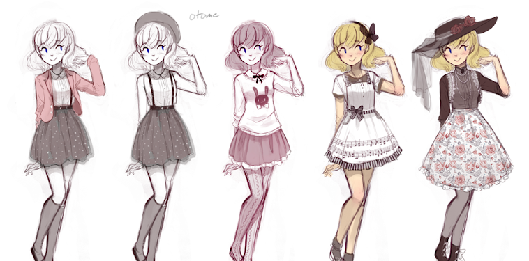 Anime Girl Clothes Drawing Ideas