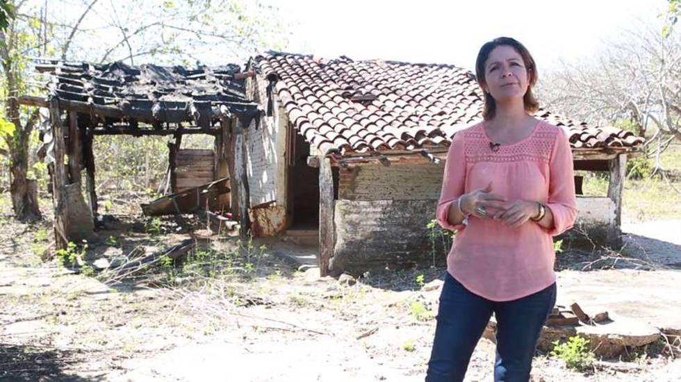 Marisol Lazárraga at her rural school.