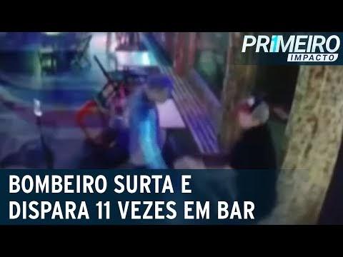 Bombeiro surta e dispara 11 vezes em bar ao perder cartão de crédito; vídeo