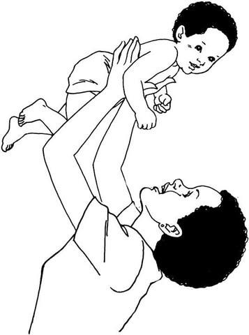 Dibujo De Madre E Hijo Para Colorear Dibujos Para Colorear