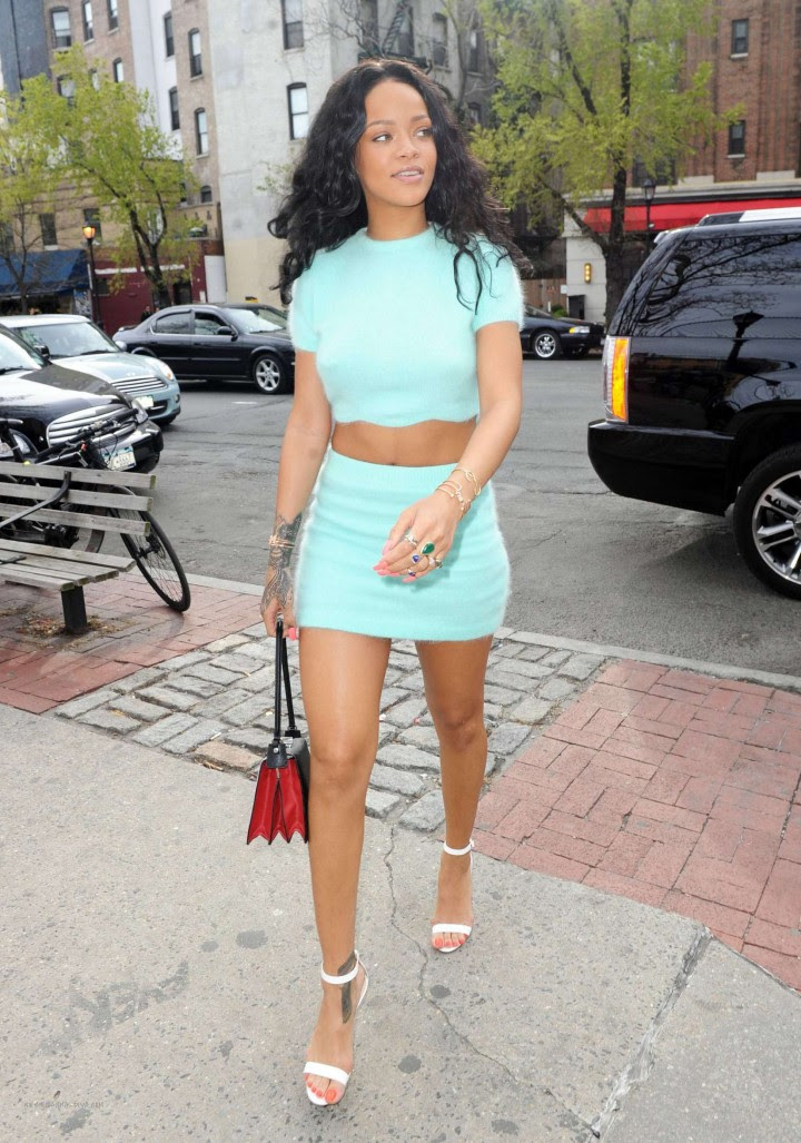 Rihanna in a Skirt -23
