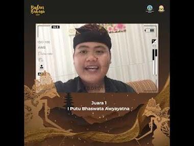 Inilah Para Juara Lomba Vlog Bahasa Bali - Bulan Bahasa 2020