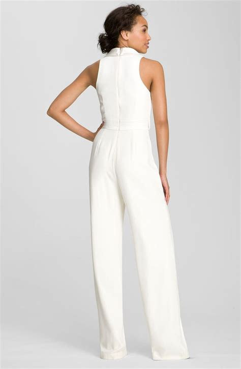 bride party dress theia tuxedo style silk jumpsuit