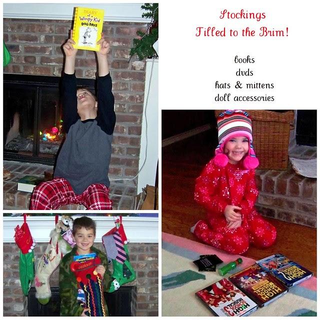 kid stocking collage