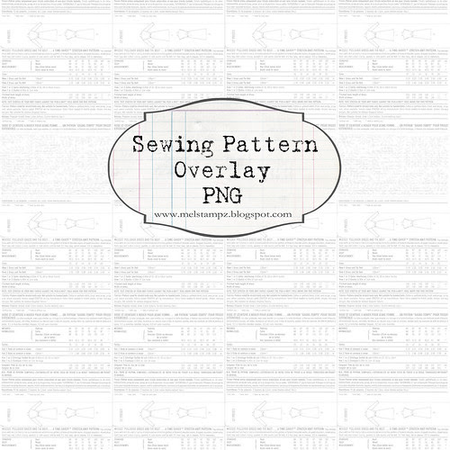 PREVIEW ONLY overlay dress pattern WHITE 12 and a half inch SQ 350dpi mel stampz