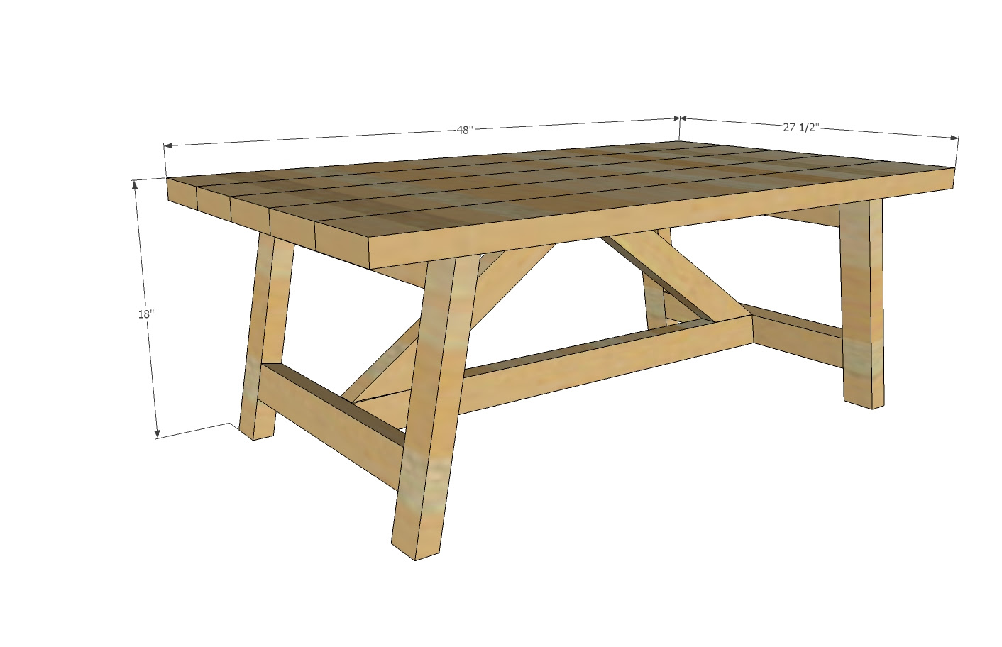 truss coffee table woodworking plans 2