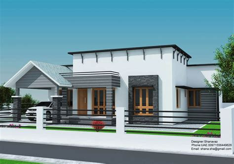 sq ft single floor contemporary home design