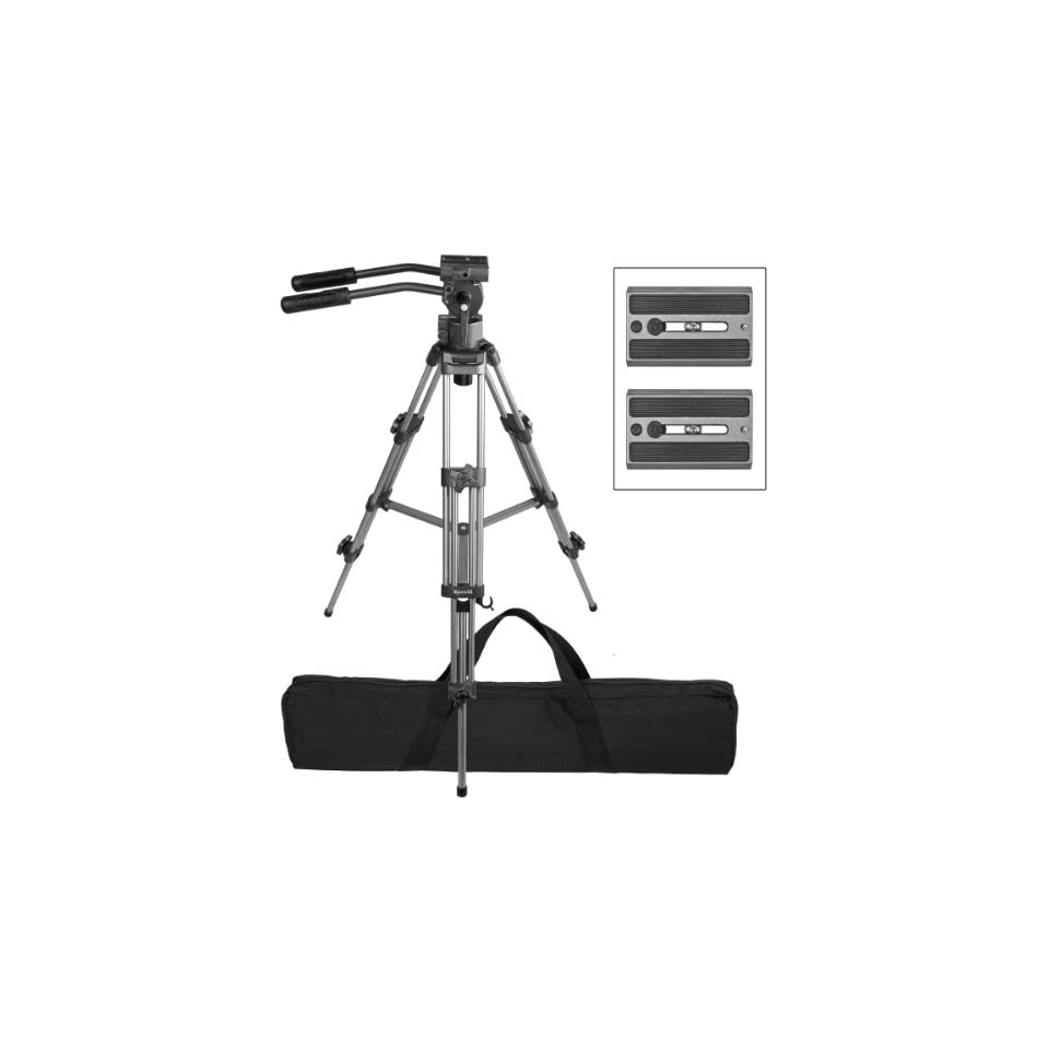 Ravelli Avtp Professional 75mm Video Camera Tripod With Fluid Drag