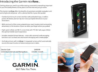Garmin Nuvifone hitting AT&T for $500 plus?id=