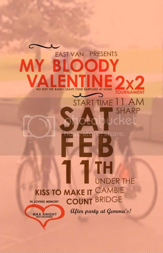 My Bloody Valentine 2x2, My Bloody Valentine 2x2 Polo Tournament Poster