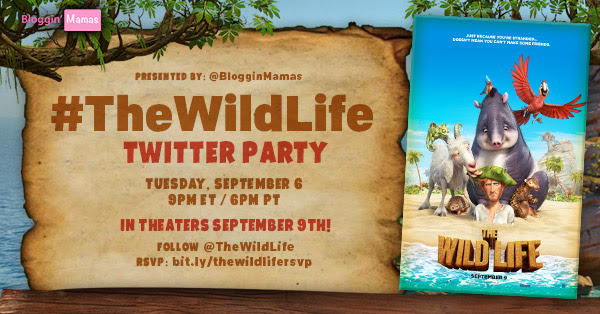 The Wild Life Twitter Party 9-6-16 at 9p ET. RSVP: bit.ly/thewildlifersvp