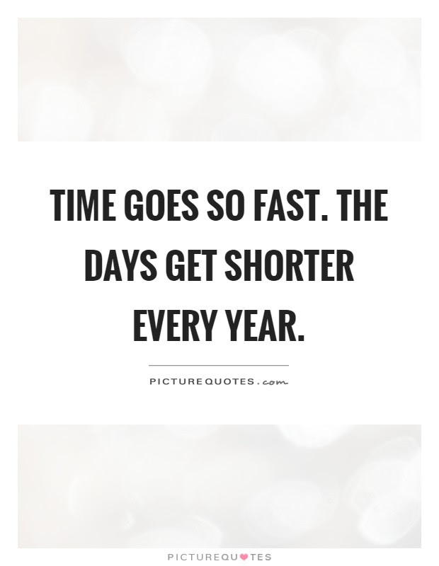 Time Goes So Fast The Days Get Shorter Every Year Picture Quotes