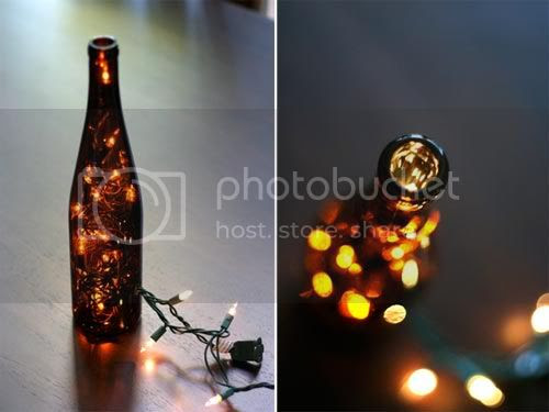 Christmas LED Lights in a Bottle