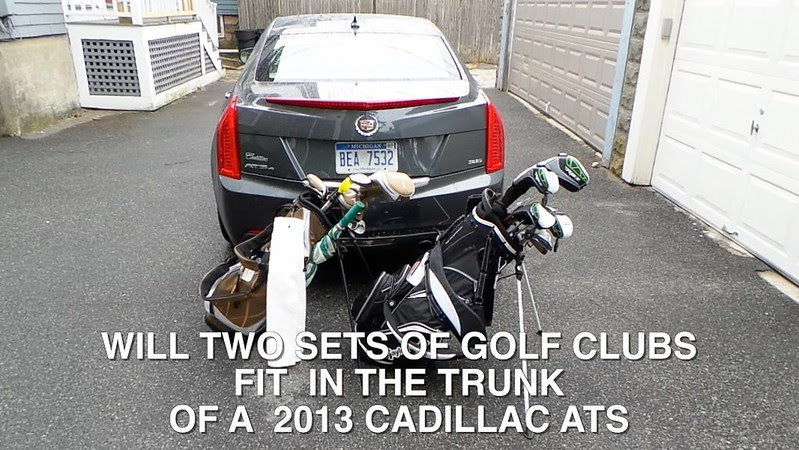 2013 Cadillac ATS - Will Two Sets of Golf Clubs Fit in the Trunk?