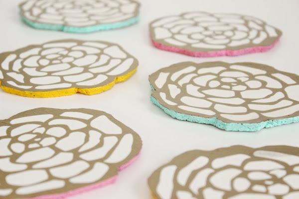 DIY Floral Coasters OSBP 4 DIY Tutorial: Floral Cocktail Party Coasters