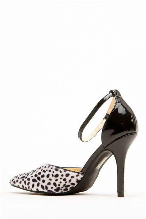 shoe republic la york black animal print pumps  cicihot