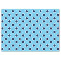 "Navy Blue Polka Dots on Light Blue Tissue Paper 17"" X 23"" Tissue Paper"