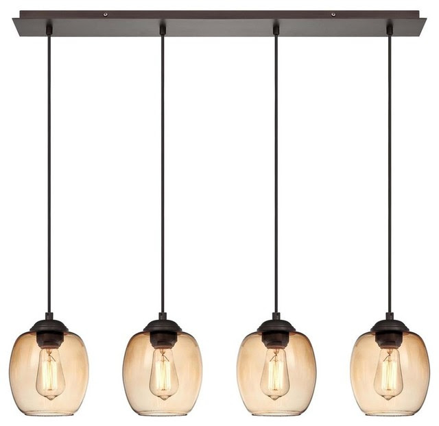 George Kovacs Bubble Bronze 4Light Island  Kitchen Island Lighting  other metro  by Lights