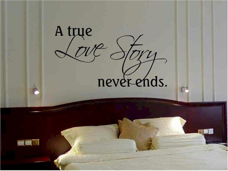 Items similar to wall quote sticker decal A true love