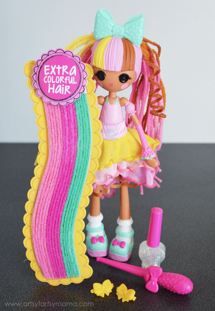 Lalaloopsy Girls Crazy Hair Scoops Waffle Cone Doll at artsyfartsymama.com #CrazyHairDay