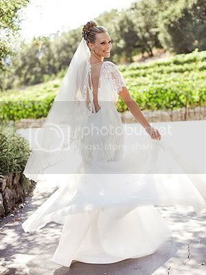 Molly Sims Marchesa Wedding Gown