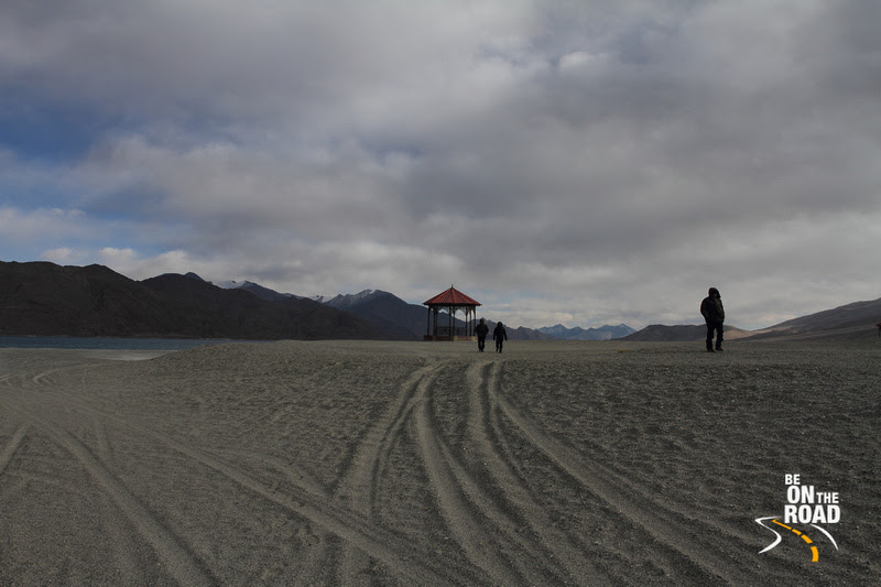 Walking the banks of the Pangong Tso Lake