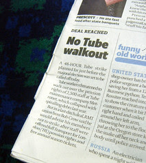 Tube Strike called off - April 21st 2008