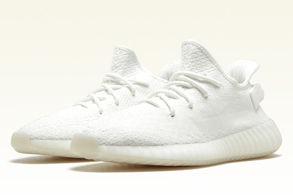 """f4735d614ab The adidas Yeezy Boost 350 v2 """"Triple White"""" Is Restocking On September  21st. Kanye West s ..."""