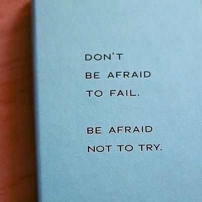 afraid, blue, fail, truth, try
