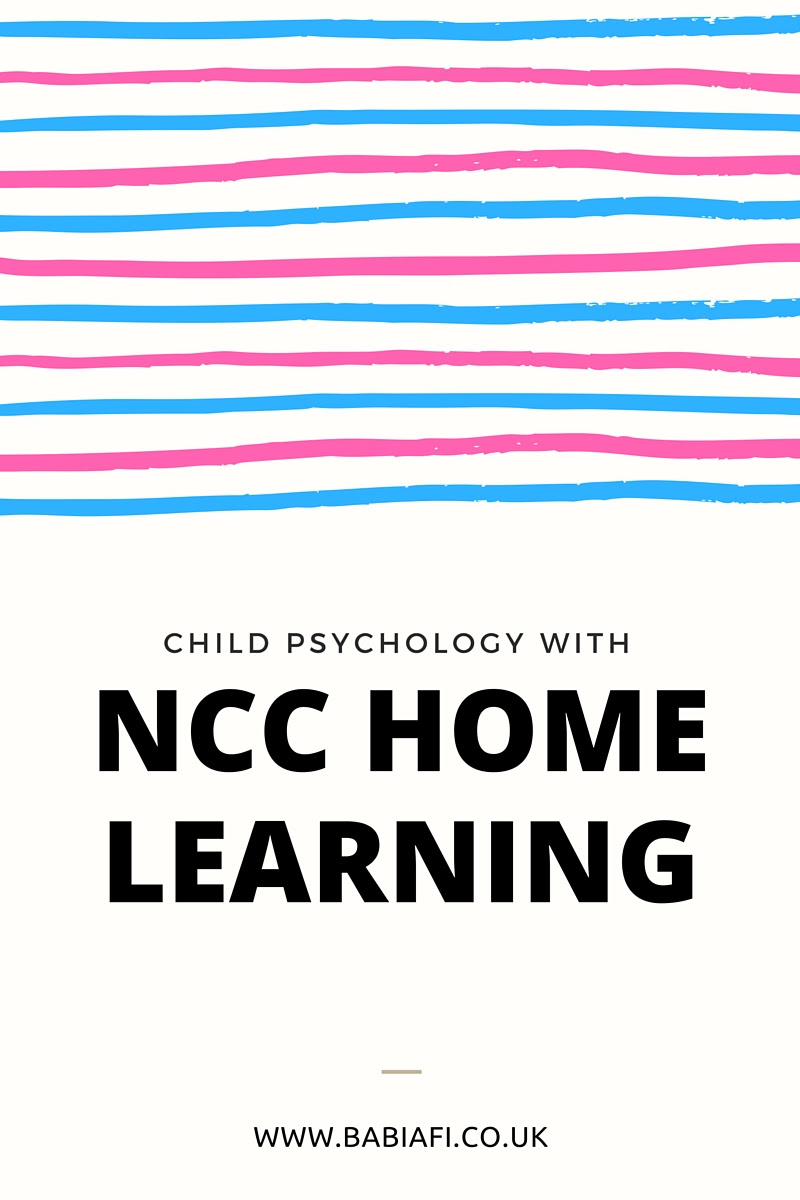 Child Psychology with NCC Home Learning
