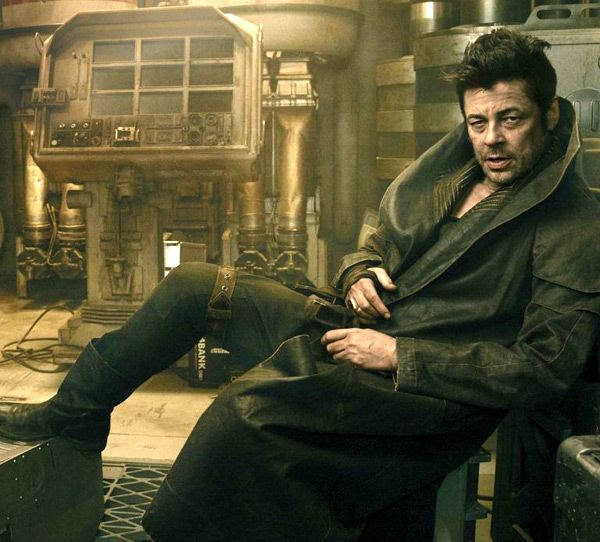 Benicio Del Toro plays DJ, a shady character of unknown origin, in STAR WARS: THE LAST JEDI.