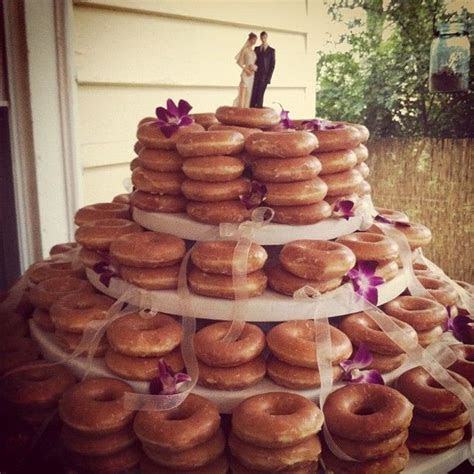 ?Krispy Kreme wedding cake #atlanta (I had this at my