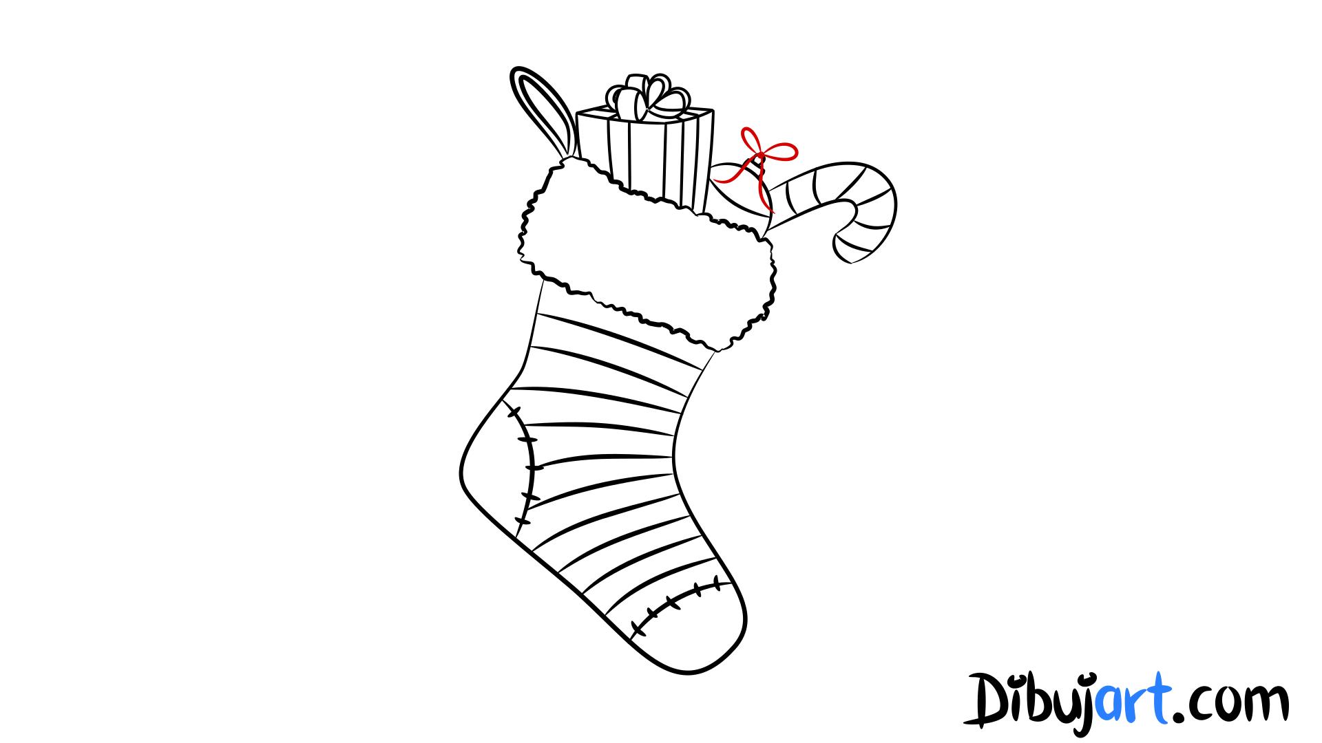 Cómo Dibujar Unas Botas De Navidad Paso A Paso Dibujartcom