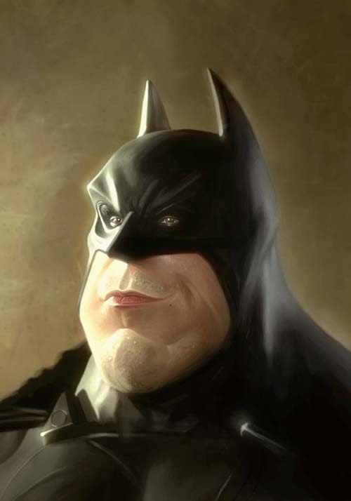 batman by george patsouras, 3d art