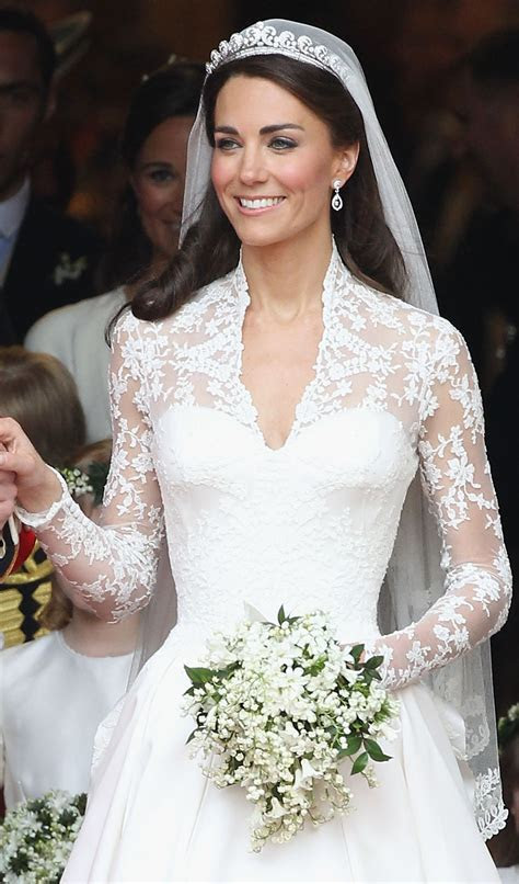 The lace on Kate Middleton?s wedding dress featured a
