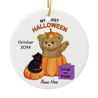 First Halloween Teddy Christmas Tree Ornaments