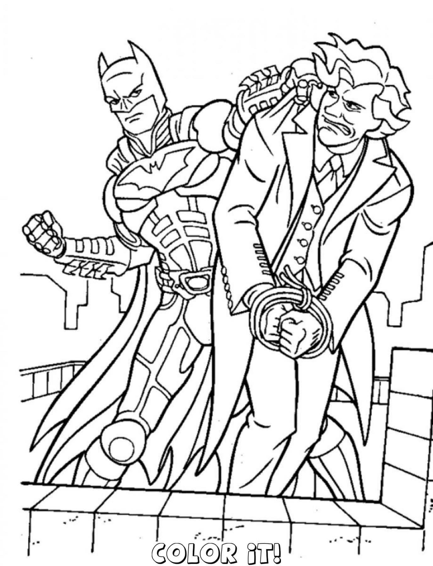 Belle Coloriage A Imprimer Spiderman Et Batman Imprimer Et