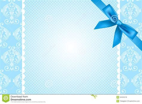Blue Background With Lace And Bow Royalty Free Stock